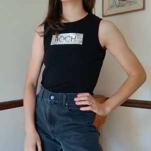 Express Tops - Express | Vintage Sequin ROCK Muscle Tee